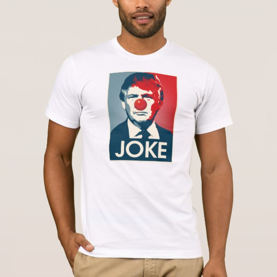 Trump Clown Joke Men's Basic American Apparel T-Shirt