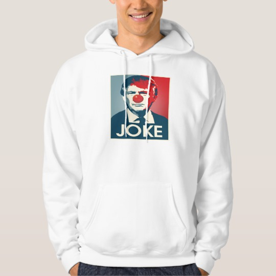 Trump Clown Joke Men's Basic Hooded Sweatshirt