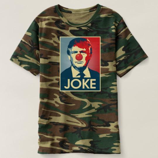 Trump Clown Joke Men's Camouflage T-Shirt