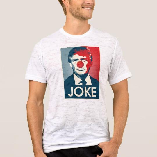 Trump Clown Joke Men's Canvas Fitted Burnout T-Shirt