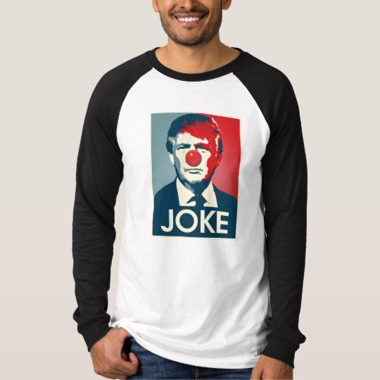 Trump Clown Joke Men's Canvas Long Sleeve Raglan T-Shirt