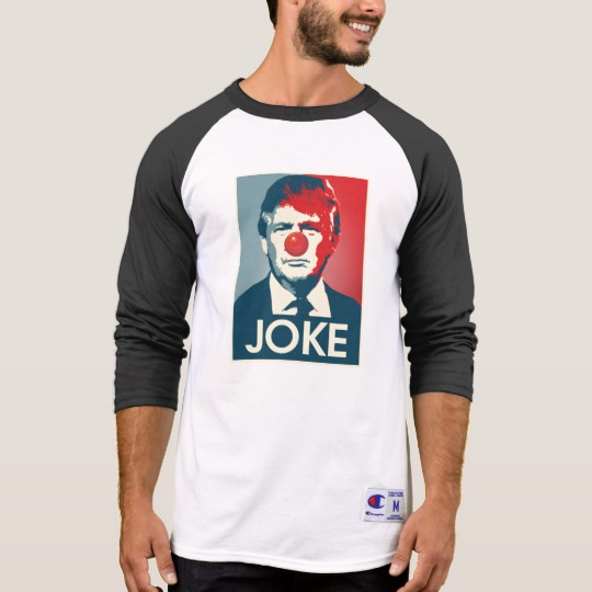 Trump Clown Joke Men's Champion 3/4 Sleeve Raglan T-Shirt