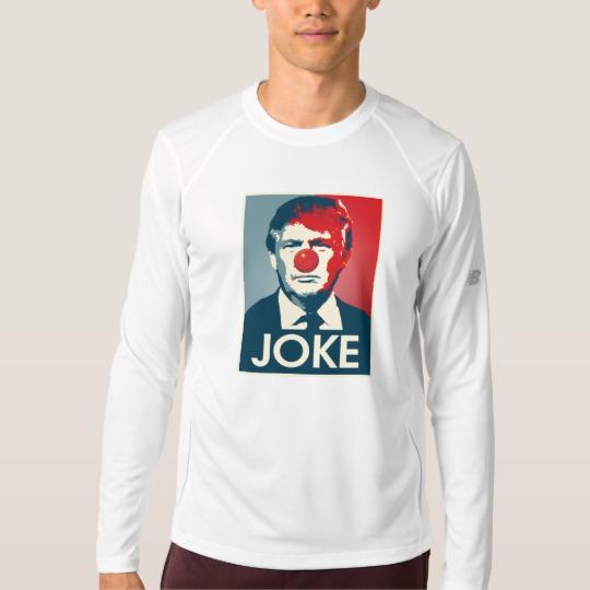 Trump Clown Joke Men's New Balance Long Sleeve T-Shirt