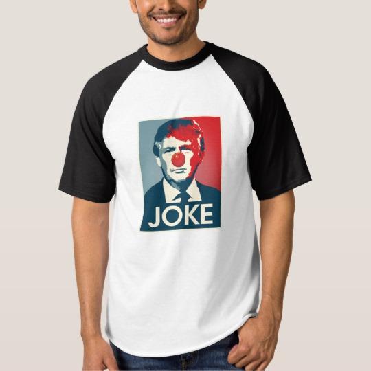Trump Clown Joke Men's Raglan Baseball T-Shirt