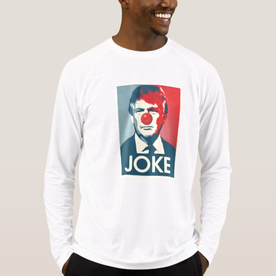 Trump Clown Joke Men's Sport-Tek Fitted Performance Long Sleeve T-Shirt