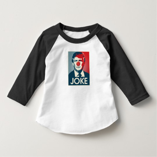 Trump Clown Joke Toddler American Apparel 3/4 Sleeve Raglan T-Shirt