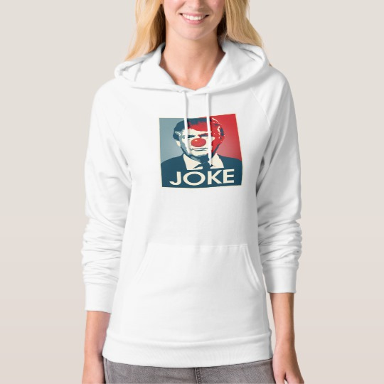 Trump Clown Joke Women's American Apparel California Fleece Pullover Hoodie