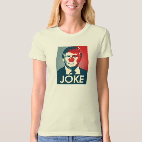 Trump Clown Joke Women's American Apparel Organic T-Shirt