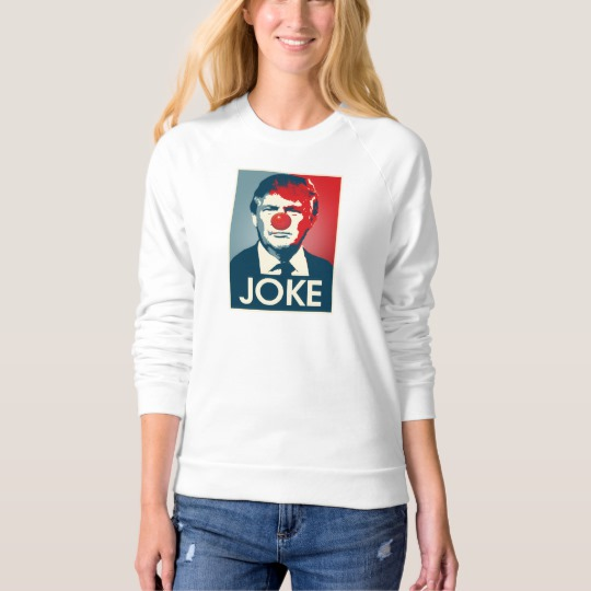 Trump Clown Joke Women's American Apparel Raglan Sweatshirt