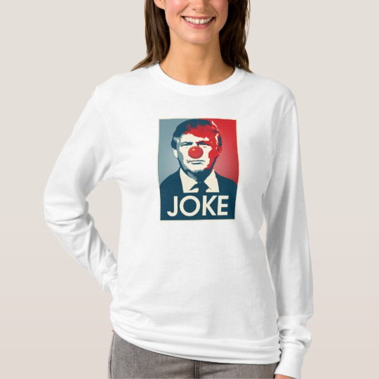 Trump Clown Joke Women's Basic Long Sleeve T-Shirt