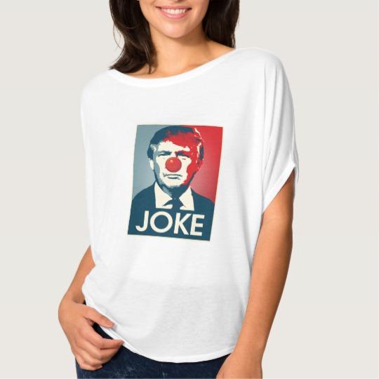 Trump Clown Joke Women's Bella+Canvas Flowy Circle Top