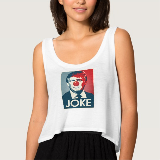 Trump Clown Joke Women's Bella+Canvas Flowy Crop Tank Top