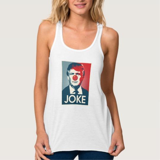 Trump Clown Joke Women's Bella+Canvas Flowy Racerback Tank Top