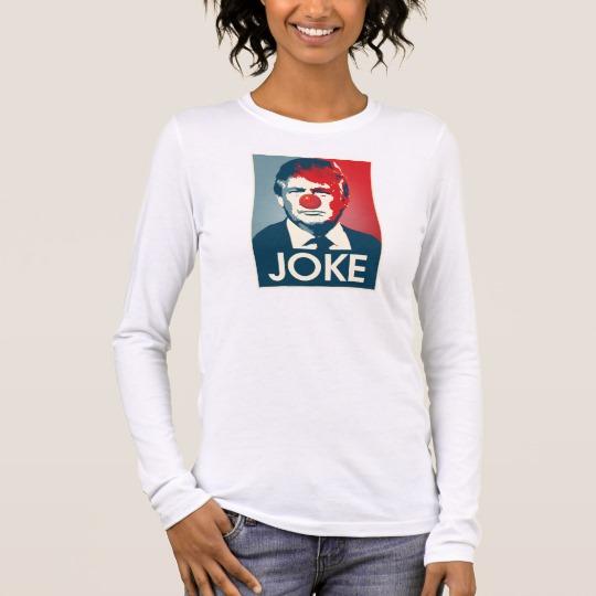 Trump Clown Joke Women's Bella+Canvas Long Sleeve T-Shirt