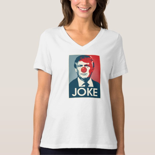 Trump Clown Joke Women's Bella+Canvas Relaxed Fit V-Neck T-Shirt