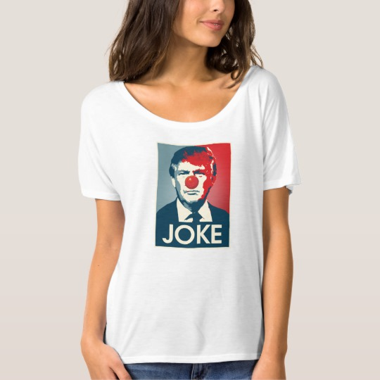 Trump Clown Joke Women's Bella+Canvas Slouchy Boyfriend T-Shirt