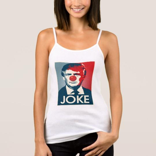 Trump Clown Joke Women's Bella+Canvas Spaghetti Strap Tank Top