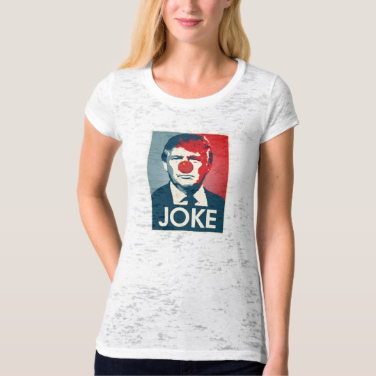 Trump Clown Joke Women's Canvas Fitted Burnout T-Shirt