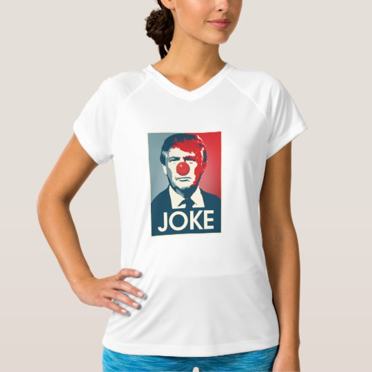 Trump Clown Joke Women's Champion Double-Dry V-Neck T-Shirt