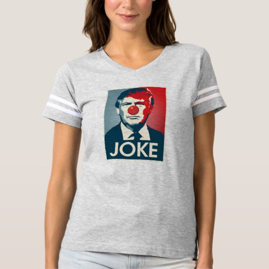 Trump Clown Joke Women's Football T-Shirt