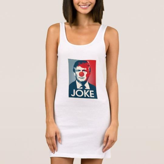 Trump Clown Joke Women's Jersey Tank Dress