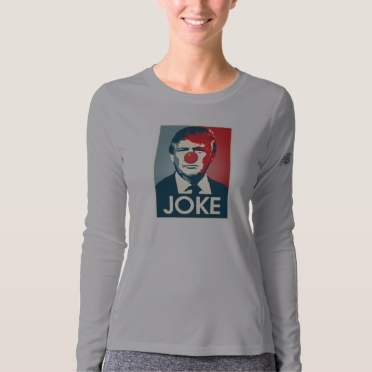 Trump Clown Joke Women's New Balance Long Sleeve T-Shirt