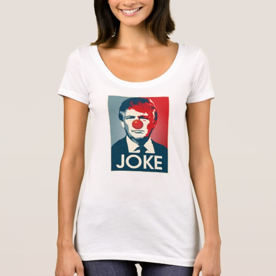 Trump Clown Joke Women's Next Level Scoop Neck T-Shirt