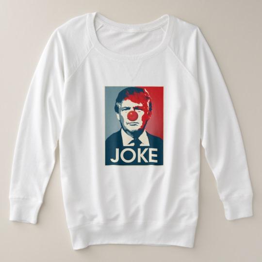 Trump Clown Joke Women's Plus-Size French Terry Sweatshirt