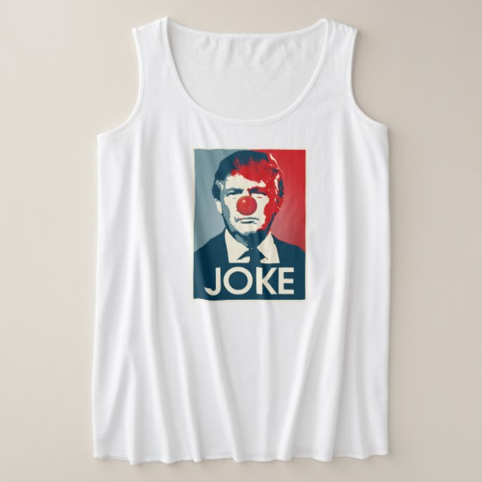 Trump Clown Joke Women's Plus-Size Tank Top