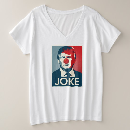 Trump Clown Joke Women's Plus-Size V-Neck T-Shirt