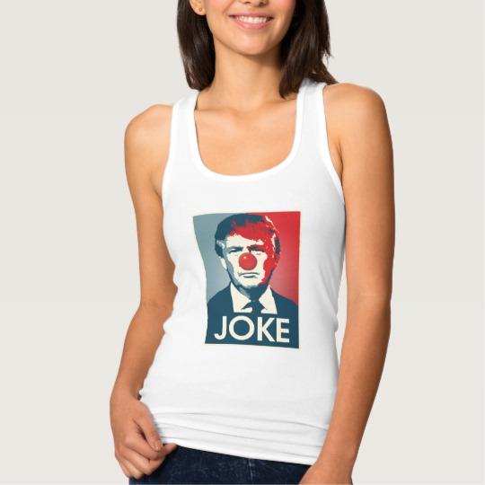 Trump Clown Joke Women's Slim Fit Racerback Tank Top
