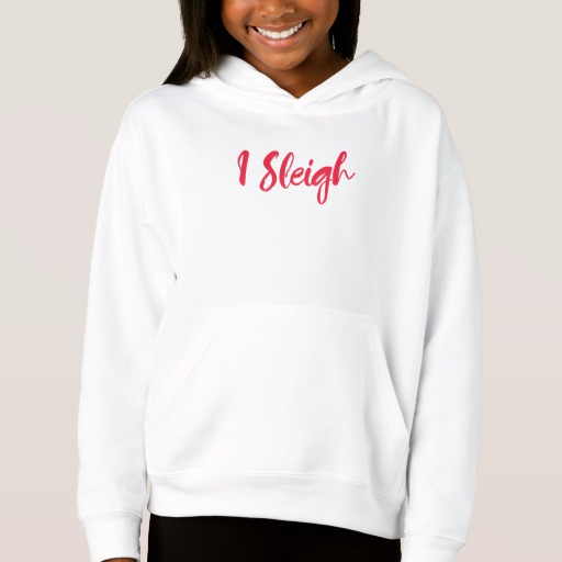 I Sleigh Girls' Fleece Pullover Hoodie
