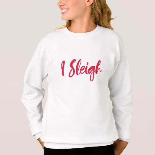 I Sleigh Girls' Hanes ComfortBlend® Sweatshirt