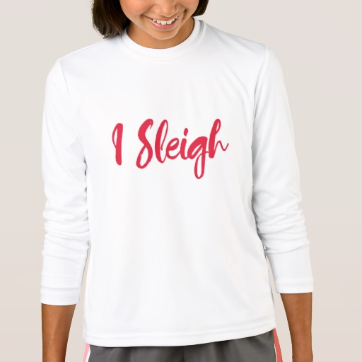 I Sleigh Girls' Sport-Tek Competitor Long Sleeve T-Shirt