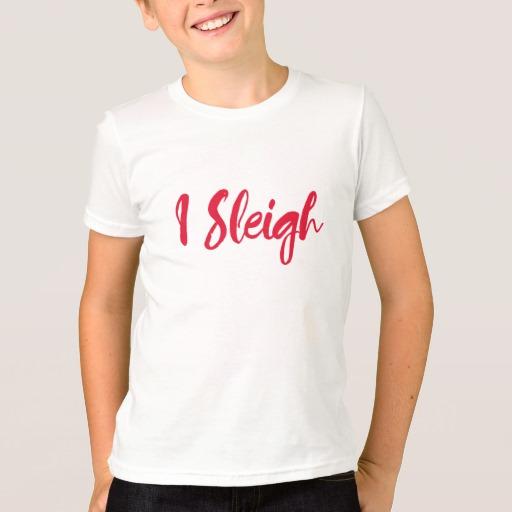 I Sleigh Kids' American Apparel Fine Jersey T-Shirt