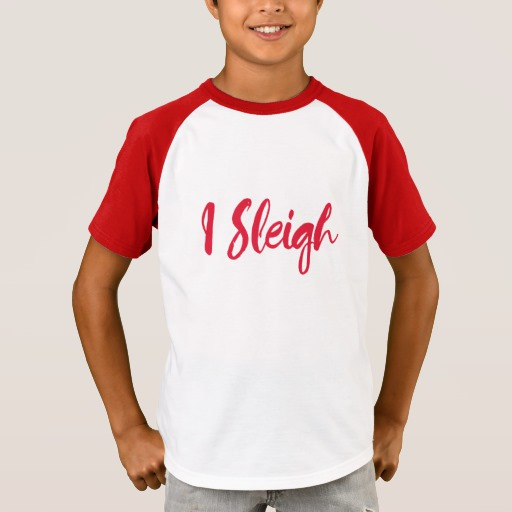 I Sleigh Kids' Short Sleeve Raglan T-Shirt
