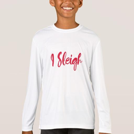 I Sleigh Kids' Sport-Tek Competitor Long Sleeve T-Shirt