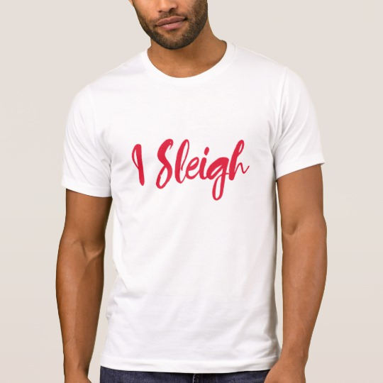 I Sleigh Men's Alternative Apparel Crew Neck T-Shirt