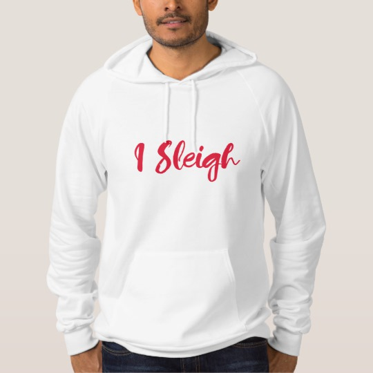 I Sleigh Men's American Apparel California Fleece Pullover Hoodie