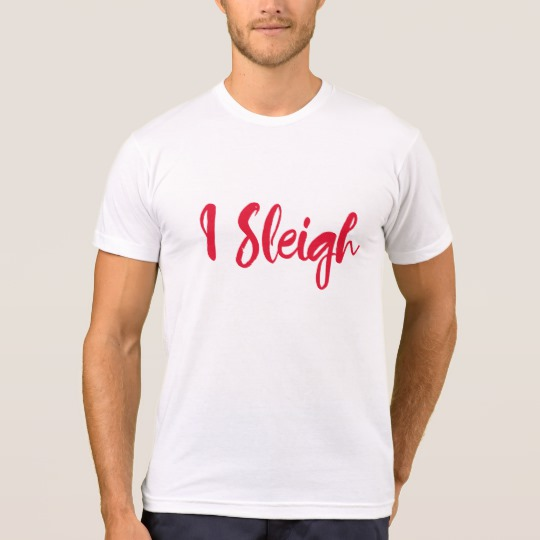 I Sleigh Men's American Apparel Poly-Cotton Blend T-Shirt