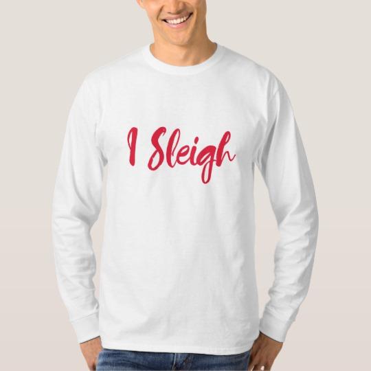 I Sleigh Men's Basic Long Sleeve T-Shirt