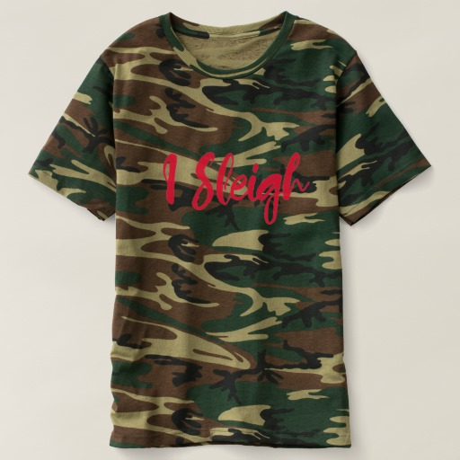I Sleigh Men's Camouflage T-Shirt