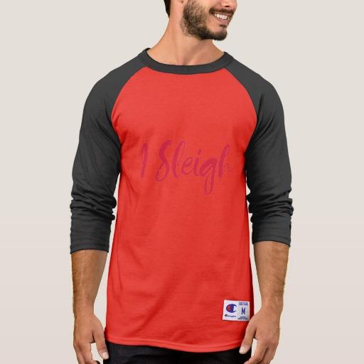 I Sleigh Men's Champion 3/4 Sleeve Raglan T-Shirt