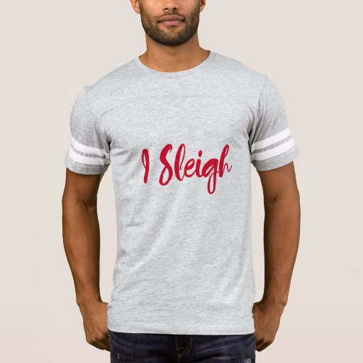I Sleigh Men's Football T-Shirt