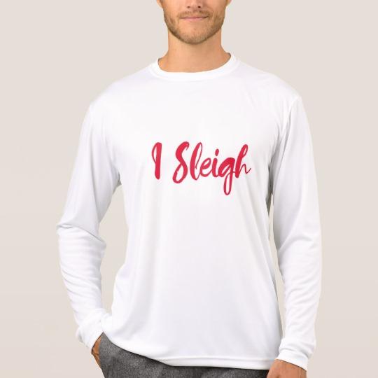 I Sleigh Men's Sport-Tek Competitor Long Sleeve T-Shirt
