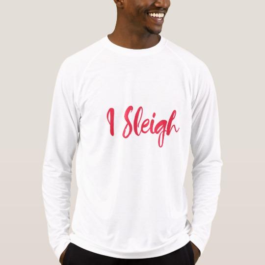 I Sleigh Men's Sport-Tek Fitted Performance Long Sleeve T-Shirt
