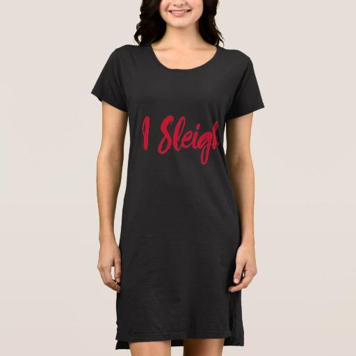 I Sleigh Women's Alternative Apparel T-Shirt Dress