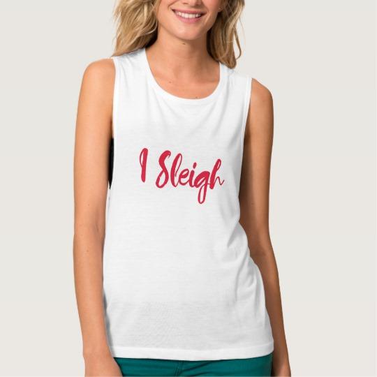 I Sleigh Women's Bella+Canvas Flowy Muscle Tank Top