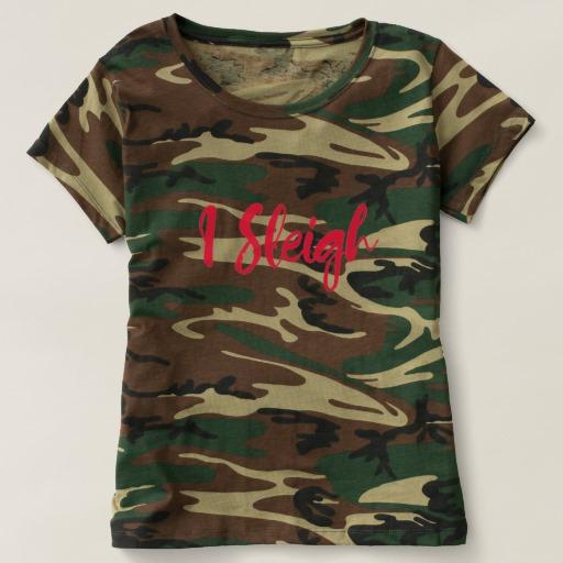 I Sleigh Women's Camouflage T-Shirt