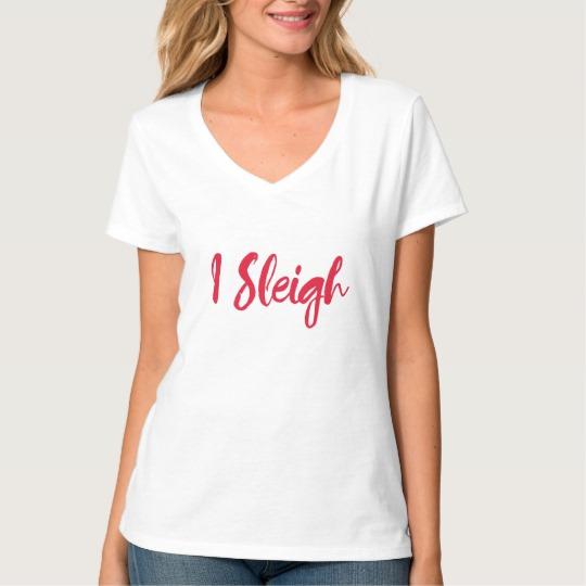 I Sleigh Women's Hanes Nano V-Neck T-Shirt